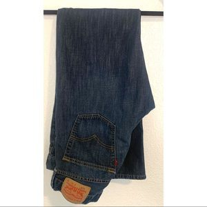 "Levi's 614 dark wash denim jeans size 33""x32"""